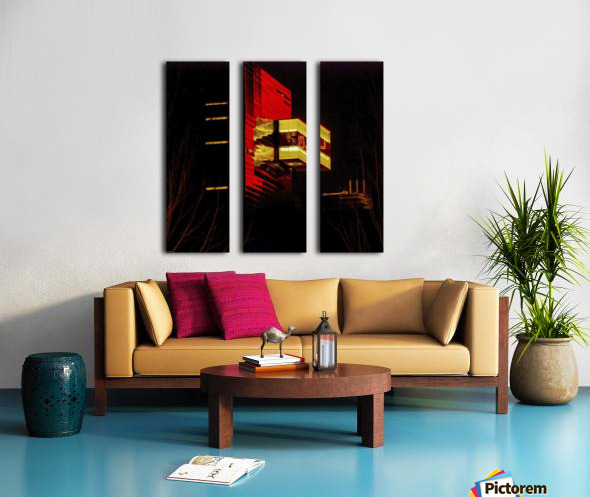 Night at the Guthrie Split Canvas print