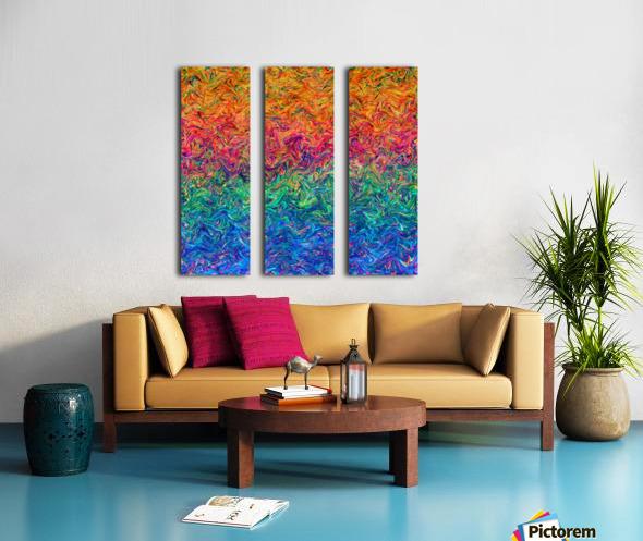 Fluid Colors G249 Split Canvas print