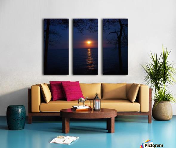moon glow Split Canvas print