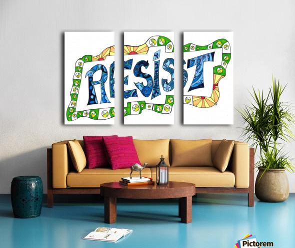 RESIST 3 Split Canvas print