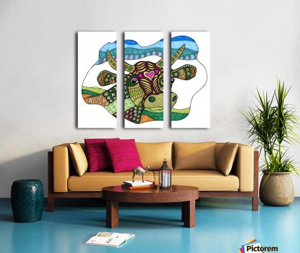 Elsie Cow Split Canvas print