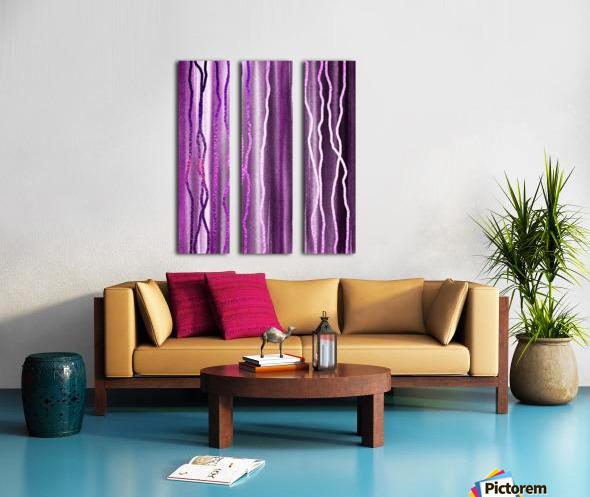 Organic Lines Purple Abstract Split Canvas print