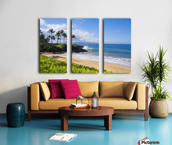 Hawaii, Maui, Wailea, Beautiful Ulua Beach. Split Canvas print