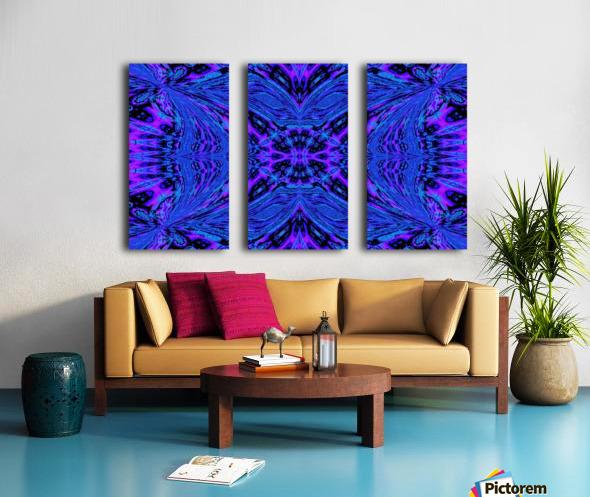 Butterfly in the Blue Split Canvas print