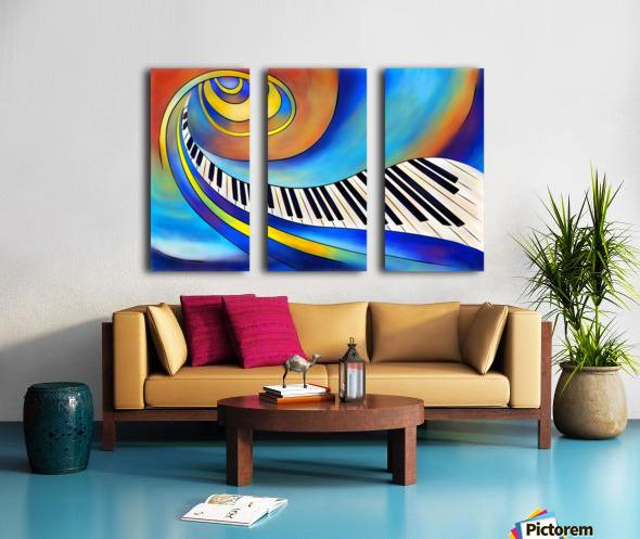 Redemessia - spiral piano Split Canvas print
