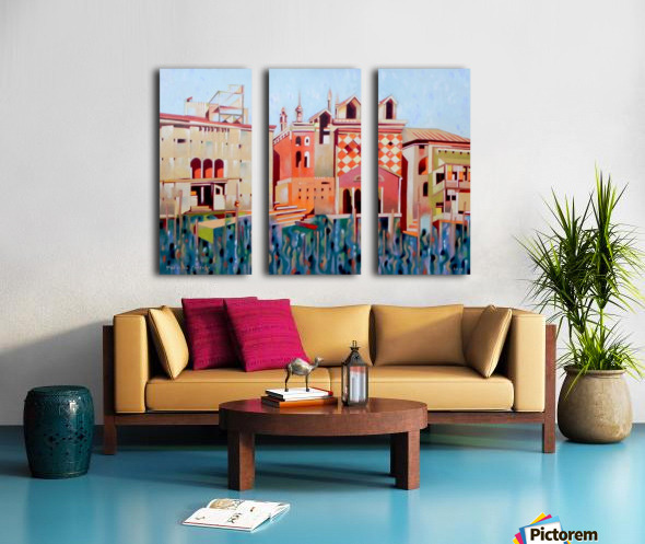 memory of Venice Split Canvas print