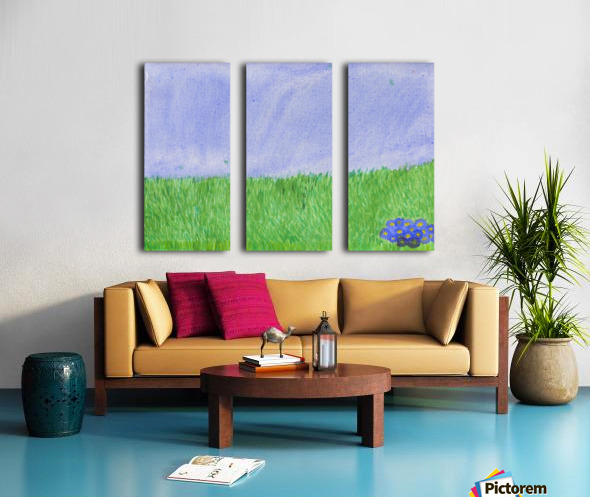 field of grass Split Canvas print