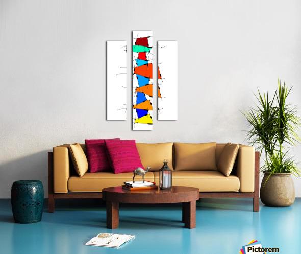 Sanomessia - melting cubes Canvas print