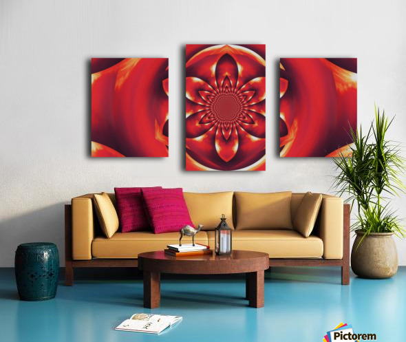 Red Fire Flower 1 Canvas print