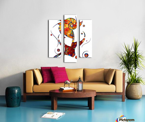 Espanessua - imaginery spiral flower Canvas print