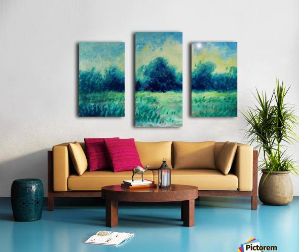 Landscape and Sun Canvas print