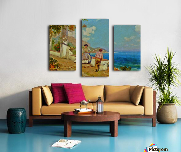 Courting couple in Naples Canvas print