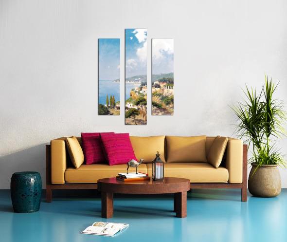 Sunny day on Naples Bay Canvas print