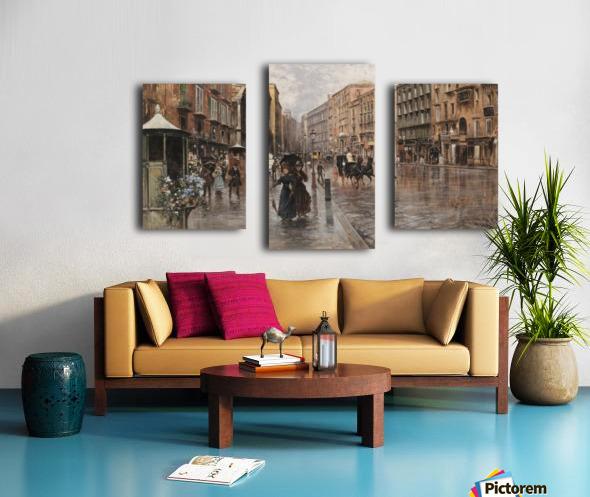 Napoli, Via Toledo Canvas print