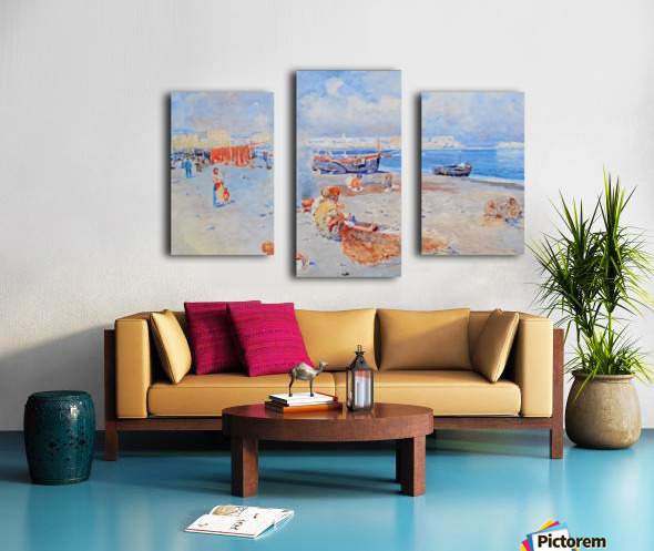 Beach of Mergellina Canvas print