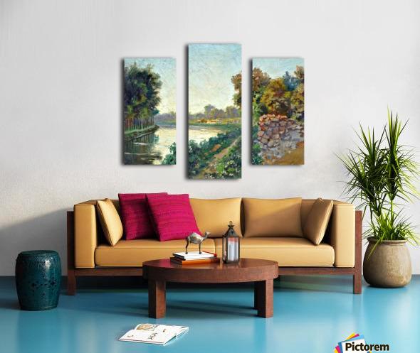 Canale a Saint Martin a Chalons Canvas print