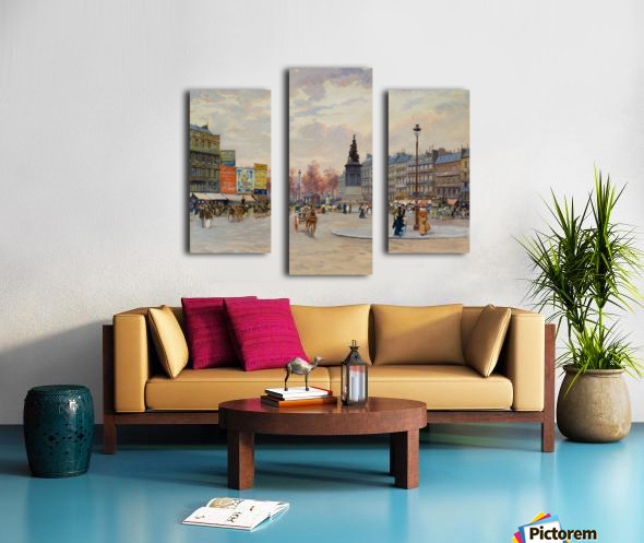 Place of Clichy Canvas print