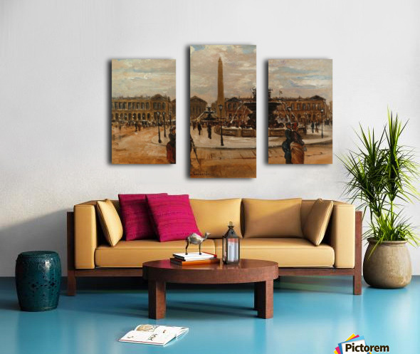 Place of the Concorde animated Canvas print