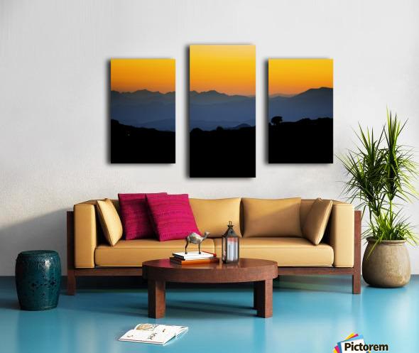 Layer of dawn Canvas print