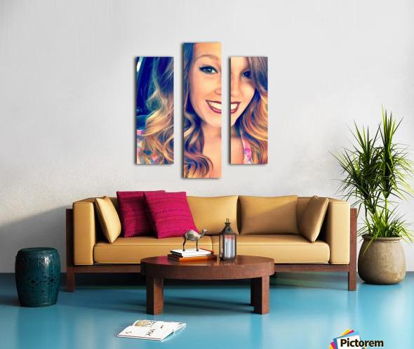 EM- Female pic art model Canvas print