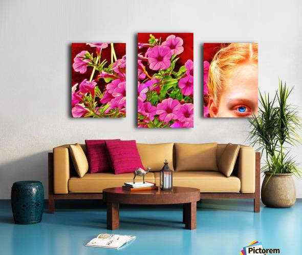 womanflowersEYE Canvas print