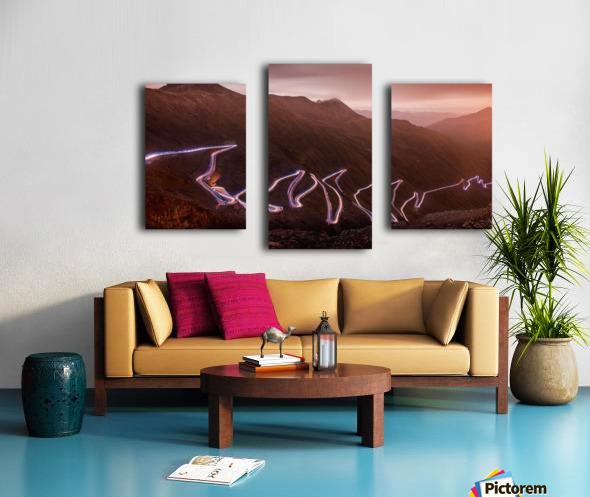 Winding light Canvas print