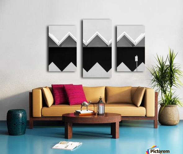 Zig Zag Shadow Canvas print