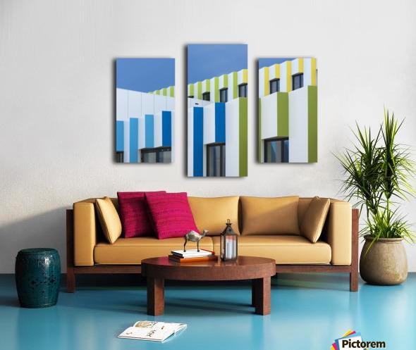 Triple facades Canvas print