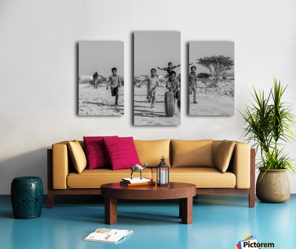Kids playing Canvas print