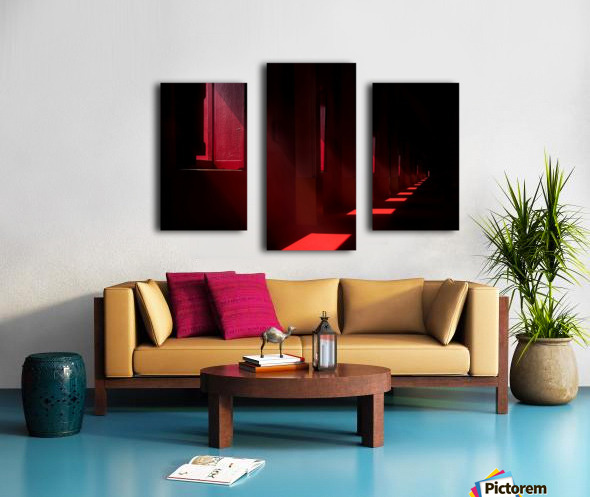 In the red temple Canvas print