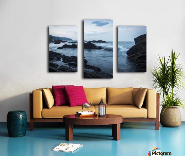 Waiao beach in Yilan County, beautiful volcanic landscape; Taiwan, China Canvas print