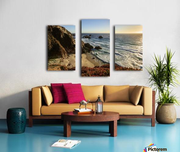 Cliffs along Big Sur coastline near Rocky Creek Bridge on Highway One; California, United States of America Canvas print