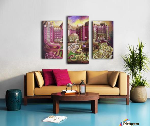 Meet me in the rose garden Canvas print