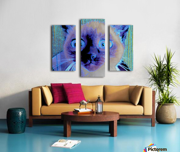 electric kitty Canvas print