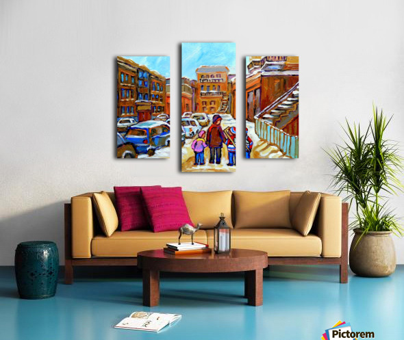 BEAUTIFUL DAY FOR A WALK IN MONTREAL Canvas print
