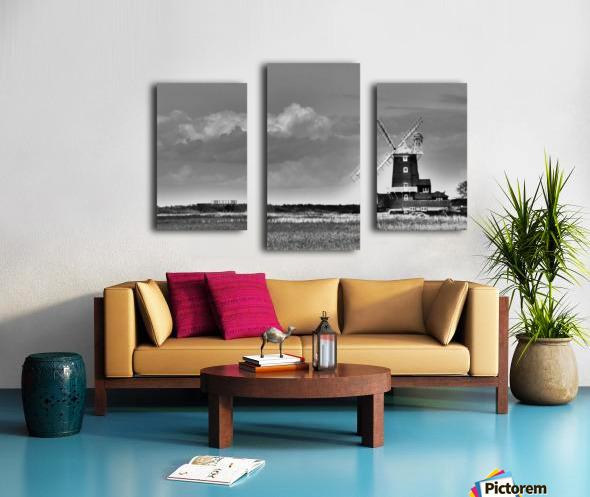 Cloud blower Canvas print