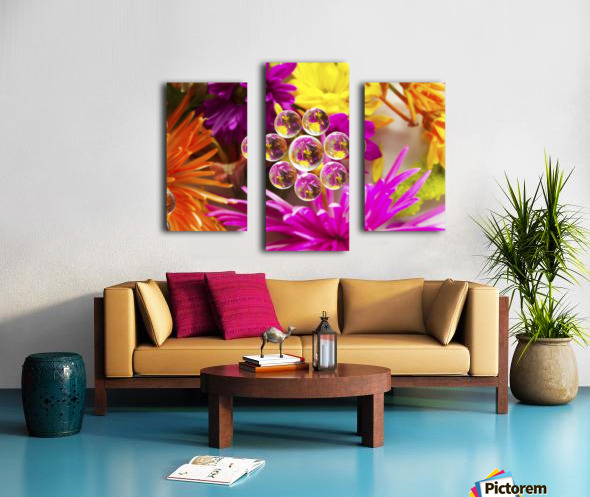 FLOWERS REFRACTION 9 Canvas print