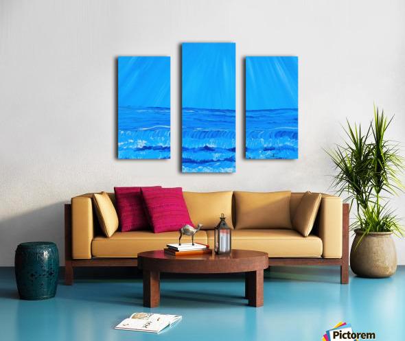 27_027 waves R Canvas print