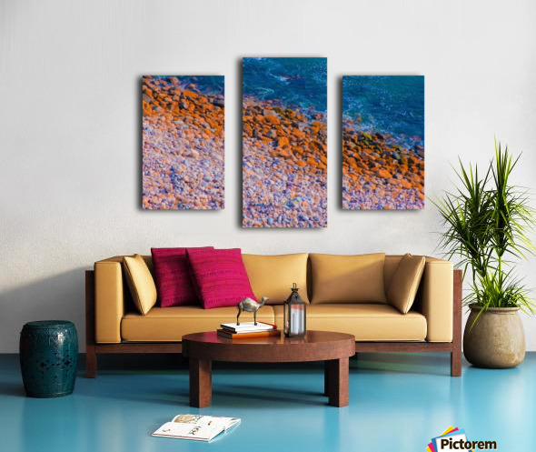ocean with blue water and rock in summer Canvas print