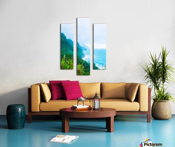 green mountain and ocean view at Kauai, Hawaii, USA Canvas print