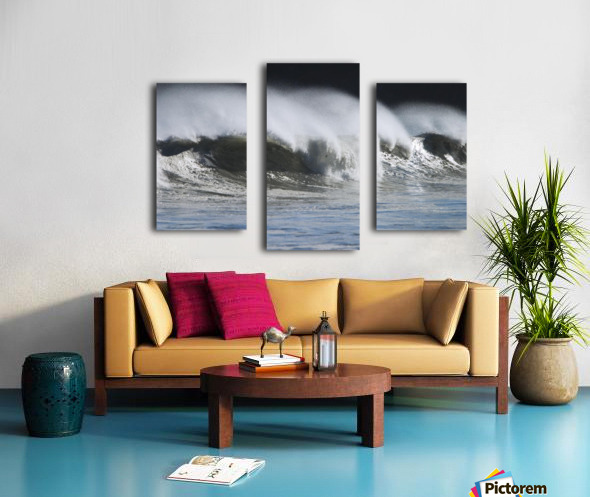 Waves Crashing On Mill Bay Beach Kodiak Island Southwest Alaska Autumn Canvas print