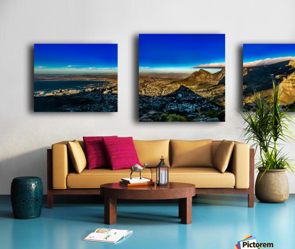 Cape Town's Table Mountain Canvas print