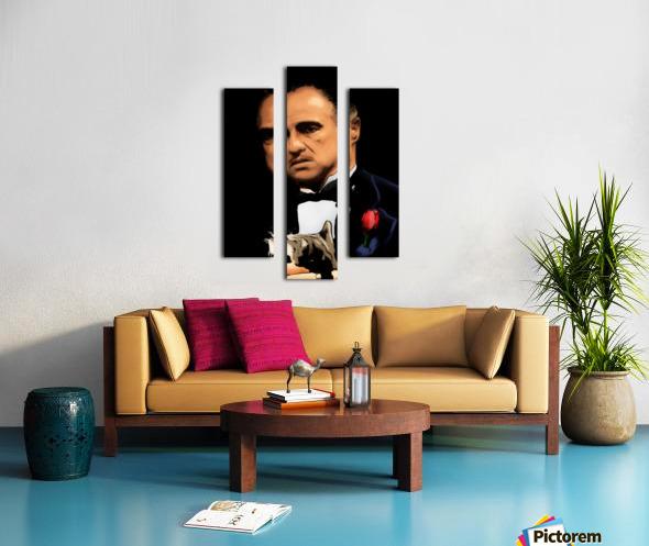 Marlon Brando - The Godfather Canvas print