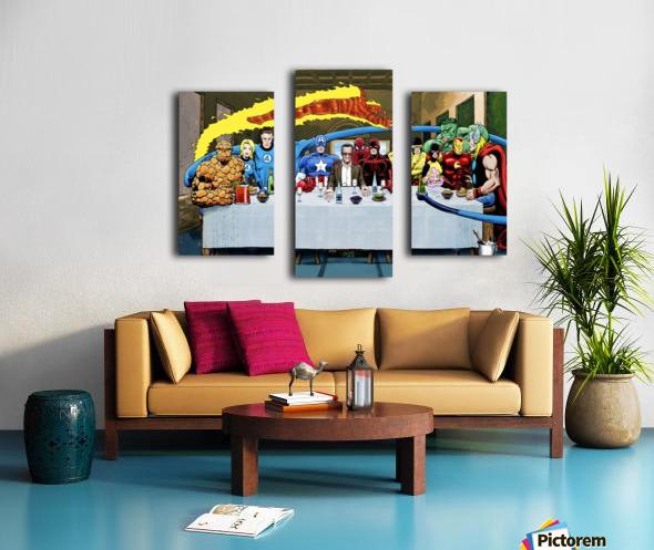 Marvel Superheroes: Stan Lee's Super Supper with Avengers, Fantastic Four, X-Men, Spider-Man & More Canvas print