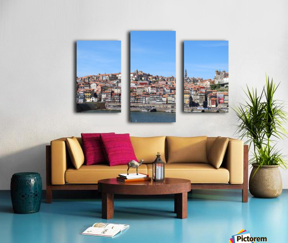 Oporto City at Douro River Canvas print