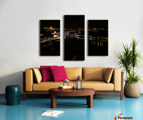 Oporto Night ligths Canvas print