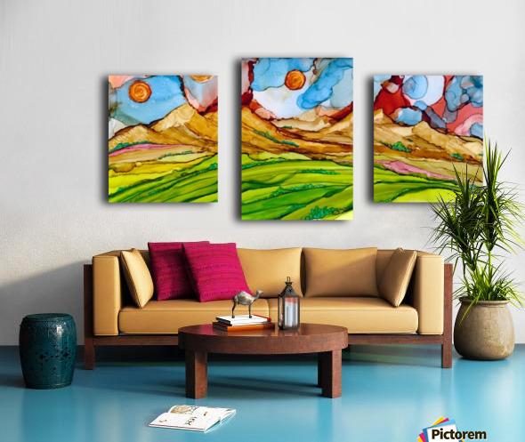Three Suns Canvas print