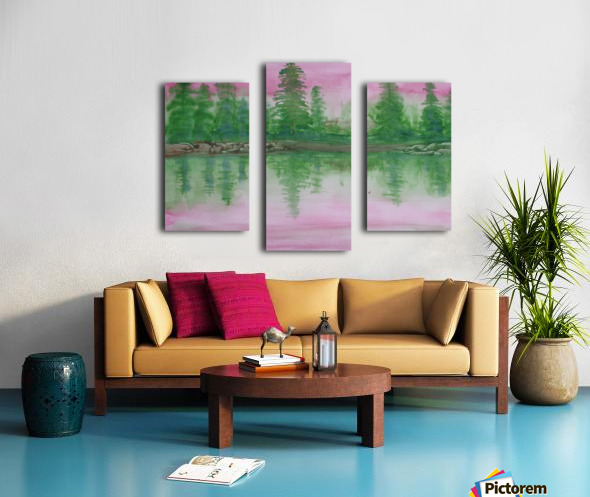 Reflections in the lake. Canvas print