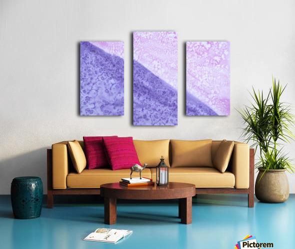 Magenta and Violet Rain. Canvas print