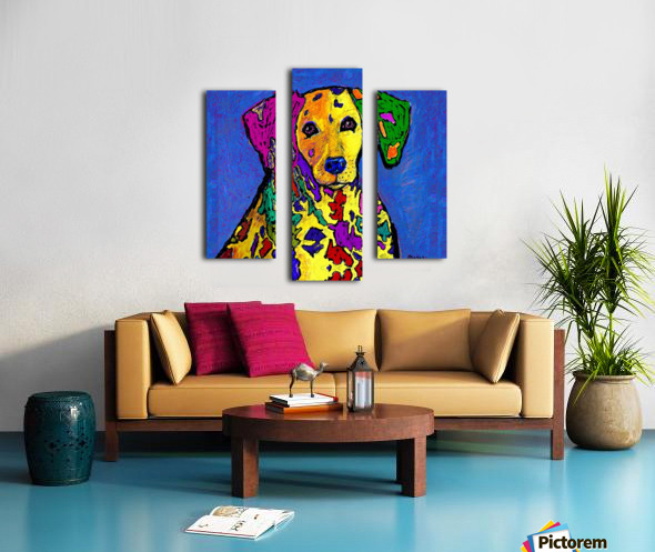 RAINBOW DALMATION  Canvas print